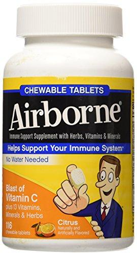 Airborne Blast of Vitamin C Citrus -- 116 Chewable Tablets