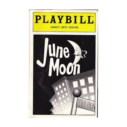 June Moon -- Playbill 1998 Variety Arts Theatre, Lardner, Ring; Kaufman, George S.