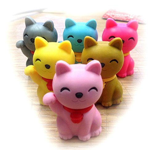 Iwako Erasers Maneki Neko - Lucky Cats (Special Color)