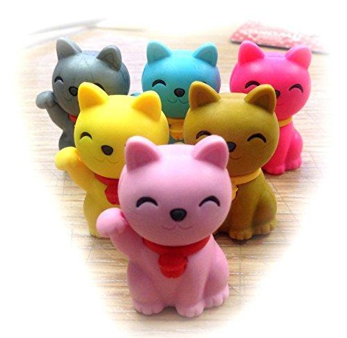 Iwako Erasers Maneki Neko - Lucky Cats (Special Color) - 1