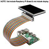 Miuzei 40pin Male to Female GPIO Ribbon Cable Compatible with Raspberry Pi 3 2 Model B B+
