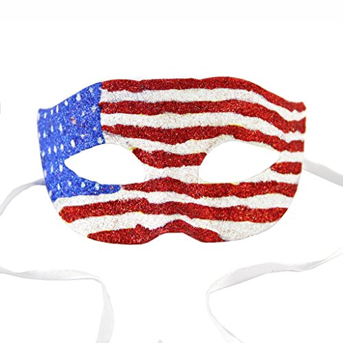 Unisex American Flag Venetian Costume Mask Party Mardi Gras Decoration