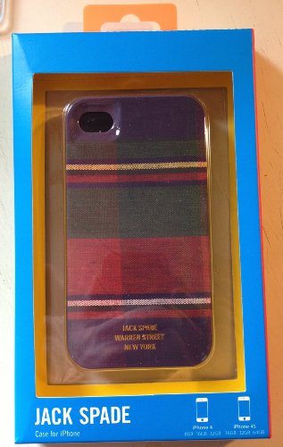 Jack Spade Hard Case for iPhone 4/4S - Retail Packaging - Plaid (Jack Spade Iphone 4s Case compare prices)