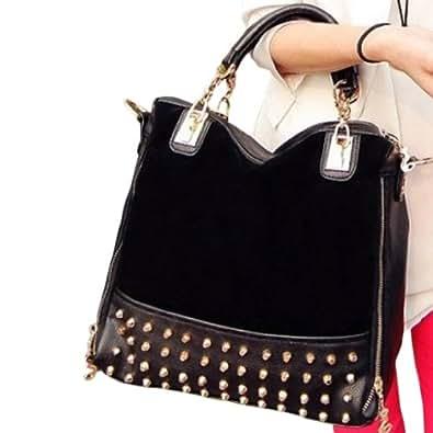 Amazon.com: Hee Grand Femme Couture Sac de Velours Paquet de Rivet