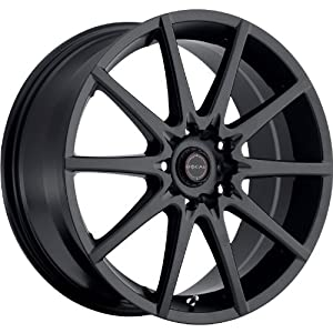 Focal F-04 17 Black Wheel / Rim 4×100 & 4×4.5 with a 42mm Offset and a 73 Hub Bore. Partnumber 428-7703SB+42