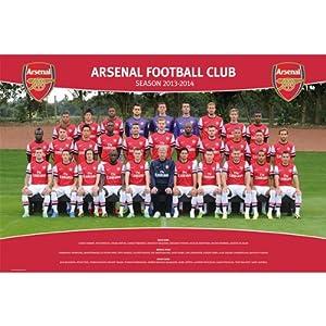 GB eye 61 x 91.5 cm Arsenal Team Photo 13/ 14 Maxi Poster, Assorted