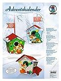 Ursus 17820003 - Adventskalender Fuchs, Bastelset für 24 Geschenkboxen, bunt