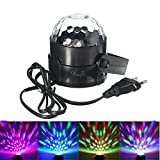 KINGSO LED Licht Rotation Automatisch Bühnenbeleuchtung 5W RGB Sprachaktiviertes Kristall Magic Ball Bühnenlicht für Show DJ Disco Ballsaal KTV Stab Stadium Club Party