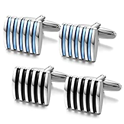 Black & Blue Cufflinks Cufflinks