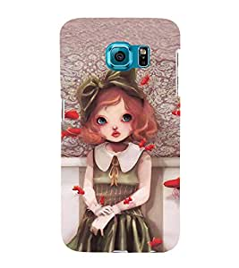 Baby Doll with Lip pout 3D Hard Polycarbonate Designer Back Case Cover for Samsung Galaxy S6 Edge :: Samsung Galaxy Edge G925