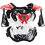 Fox Racing R3 Youth Boys Roost Deflector Motocross Motorcycle Body Armor - Red / Small