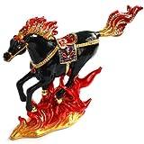 < 火馬 > ピィアース 宝石箱 ジュエリーボックス 女性が喜ぶ可愛いプレゼント♪ 炎をあしらった躍動感のある黒馬の置物 2014年の干支! 正月飾り 馬 【レビュープレゼント対象】【ピィアースオフィシャルショップ】