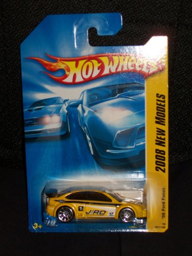 Hot Wheels 2008 031 31 New Models Yellow '08 Ford Focus 1:64 Scale - 1