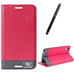 DMG HTC Desire 626 626G+ Flip Cover, DMG PRaiders Premium Magnetic Wallet Stand Cover Case for HTC Desire 626 626G+ (Pink) + Touch Screen Stylus
