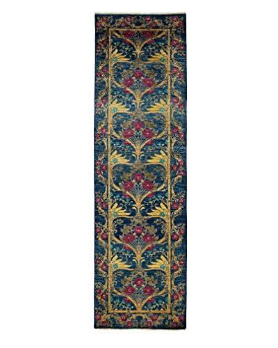 Darya Rugs Suzani Hand-Made Rug, Navy, 2' 9 x 9' 5 Runner