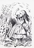 Alice attacked by the cards, by John Tenniel (V&A Custom Print)
