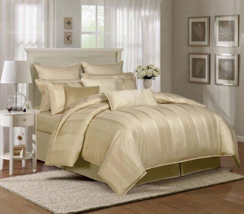 9 Piece Queen Pavillion Gold 500Tc 100% Cotton Duvet Cover Set front-921478