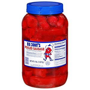 Big Johns Pickled Sausage 4 Lb Jar Pack Of 1 by Groceries To Your Door