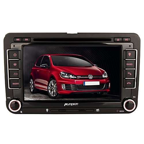 Pumpkin 7 Zoll 2 Din Autoradio Naviceiver mit Touch Screen Unterstützt GPS Navigation Bluetooth Freisprechfunktion AV-IN DVD Player USB SD