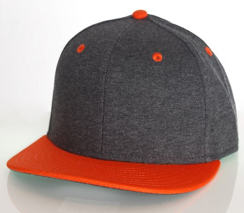 Raw Blue 6 Panel Snapback 2Tone Blank Cap in grau orange