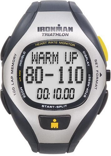 Timex Ironman T5F001 Unisex 100-Lap Target Trainer Heart Rate Monitor Watch
