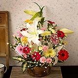 【クール便配送(無料サービス)】翌日配達お花屋さん 人気のお花ガーベラをメインにより華やかに仕上げたアレンジです。ナチュラル(お誕生日用季節の花ガーベラ・アレンジメント) [即日発送・翌日配達]  誕生日・記念日・お祝い・結婚祝い・お見舞い・歓送迎会・結婚祝いお礼の花の配達便!