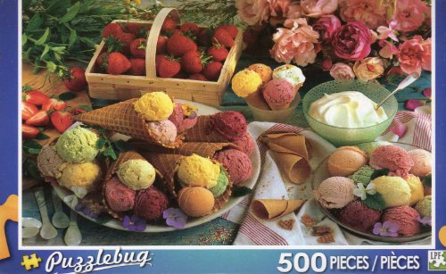 Variety of Ice Creams - Puzzlebug - 500 Pc Jigsaw Puzzle - NEW