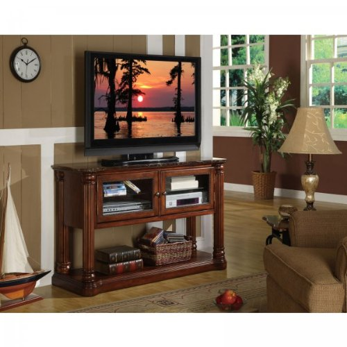 Cheap Monte Cristo Console Table – TV Stand (Hazelnut) (32″H x 52″W x 18″D) (ZG-M4301)