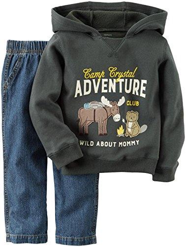 Carter's Baby Boys 2 Pc Playwear Sets 229g265, Grey, 9M