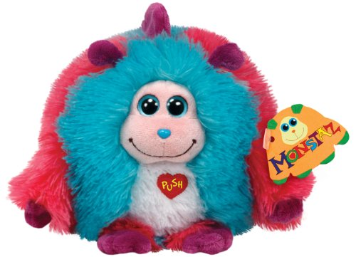 Ty Monstaz Jazzy Plush Toy, Pink/Blue - 1