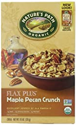 Nature\'s Path Organic Flax Plus Maple Pecan Crunch Cereal, 11.5-Ounce Boxes (Pack of 6)