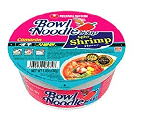 Nong Shim Bowl Noodle Spicy Shrimp 303-ounce Bowls Pack Of 12 from Nong Shim