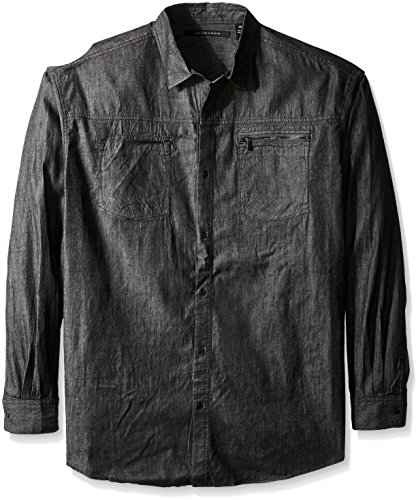 sean john men 39 s big and tall raw black denim button up