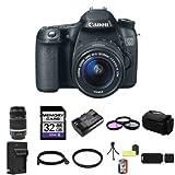 EOS 70D Black Digital SLR Camera Kit w/ 18-55 mm Lens (20.2 MP, 3.1x Opt, SD Card Slot)