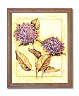 Japanese Flowers Asian Contemporary Home Decor Wall Picture Oak Framed Art Print