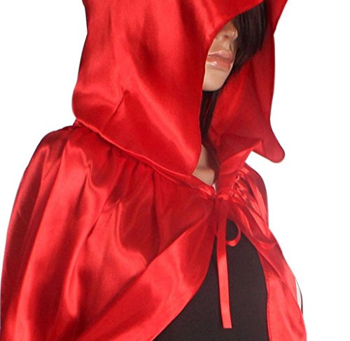 Malloom® 1PC mantello incappucciato cappotto Wicca Robe medievale Capo Halloween Party Scialle (Nero, L) (E)