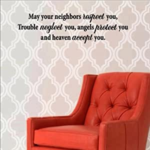 May Your Neighbors Respect You Trouble Neglect You Tattoo Amazon.com: May...