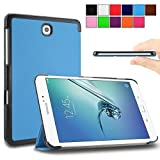 Infiland Samsung Galaxy Tab S2 8.0 SmartShell Case Cover- Ultra Slim Lightweight Smart Shell Stand Cover for Samsung Galaxy Tab S2 T715N 24,6 cm (8 inch) Tablet-PC (8IN Wi-Fi SM-T710 / LTE SM-T715)(with Dual Auto Sleep/Wake Feature)(Blue)