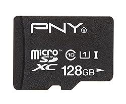 PNY High Performance 128GB High Speed microSDHC Class 10 UHS-1 up to 40MB/sec Flash Memory Card - P-SDUX128U1-GE