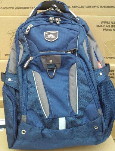 High Sierra Business Elite Backpack Blue Fits 17'' Laptop With Tablet Storage & Suspended Back Panel front-252383