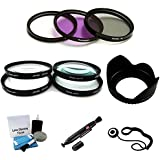 40.5mm PREMIUM Filter Kit (UV CPL FLD) Close-Up Macro Filter Set +1 +2 +4 +10) And Lens Hood Bundle For Select... - B0157PTF58