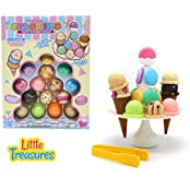 Little Treasures Tower Plus Stacking Ice Cream Balance Game With 29 Pcs Fun Toy Set
