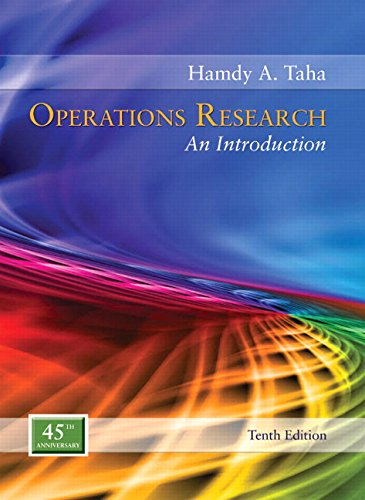 Taha Operations Research An Introduction 10th Edition