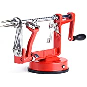 Masione? Apple And Potato Peeler,slicer & Corer / Peel, Slice & Core W/ Suction Base For Everyday Kitchen Use...