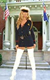 Elegant Moments 2pc. Costume includes a long sleeve button front mini dress