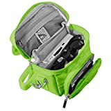 Orzly Travel Bag for Nintendo DS Consoles (New 2DS XL / 3DS / 3DS XL / New 3DS / New 3DS XL / Original DS / DS Lite / DSi / etc.) - Includes Belt Loop, Carry Handle, Shoulder Strap - GREEN