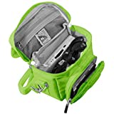 G-HUB® - GAME & CONSOLE TRAVEL BAG for NINTENDO DS (Fits ALL Foldable Screen Versions including: Original DS / DSi / DS Lite / 3DS / 3DS XL / New 3DS / New 3DS XL / etc. but not 2DS Model Version) - Designed by G-HUB® exclusively for use with Nintendo DS Consoles - With Specially designed compartments for Games + Stylus Pens + Charging / Power / Data Cables and Other Accessories - Bag includes Shoulder Strap + Carry Handle + Belt Loop - GREEN