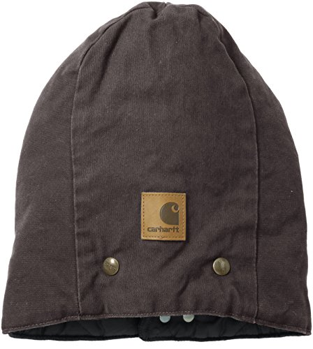 Carhartt Men's Arctic-Quilt-Lined Sandstone Hood,Dark Brown,One Size (Carhartt Snap Hood compare prices)