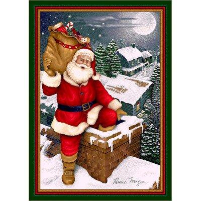 Milliken Winter Seasonal Up on the Housetop Christmas Novelty Rug 5'4