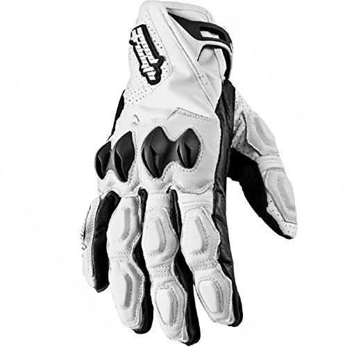 Speed and Strength Seven Sins Mens White Leather Gloves - X-Large